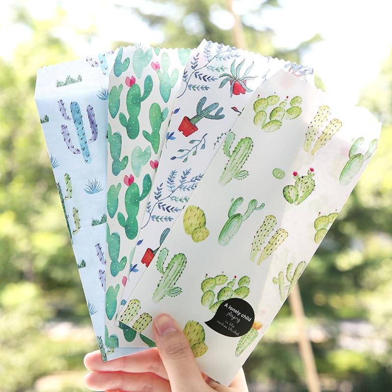 10 Pcs/pack The Watercolor Cactus Vertical Envelope Invitation Paper Envelopes Creative Gift Envelopes