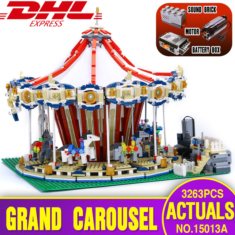 Lepin 15013 City Street Carousel Model Building Kits Assembling Blocks Toy Compatible legoing 10196 toys Educational Toys Gifts lepin 15013 city street carousel model building kits assembling blocks toy legoing 10196 educational merry go round gifts