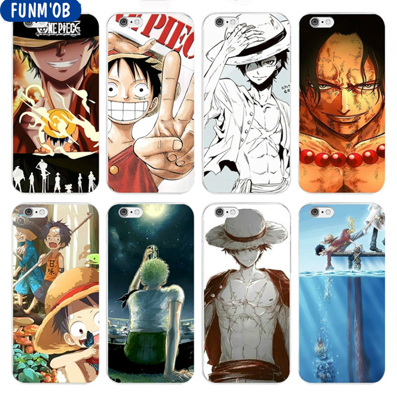 FUNM'OB Anime Cartoon One Piece Luffy Zoro Soft Silicone Clear TPU Phone Cases Cover For iPhone 6 6s 7 8 Plus 5s SE X Capinha