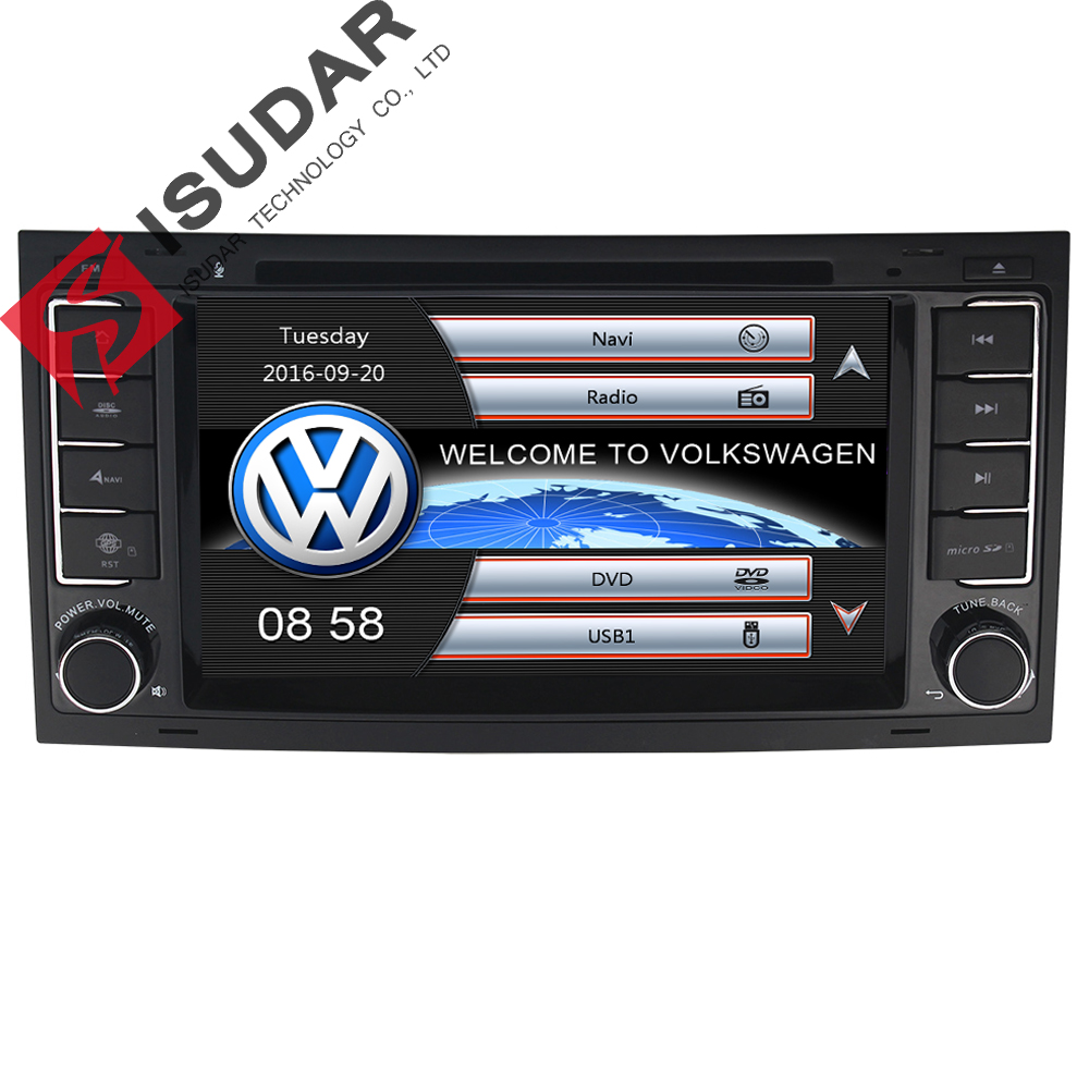 Isudar Car Multimedia player GPS Car Radio Audio Auto For Touareg/Volkswagen Canbus Steering wheel control Bluetooth Ipod 7 Inch