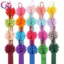Sostenedor de Lazo de cinta Grossgrain liso para sujetar el pelo pinzas para el pelo con lazo horquillas accesorios para el cabello 20 unids/lote 20 colores