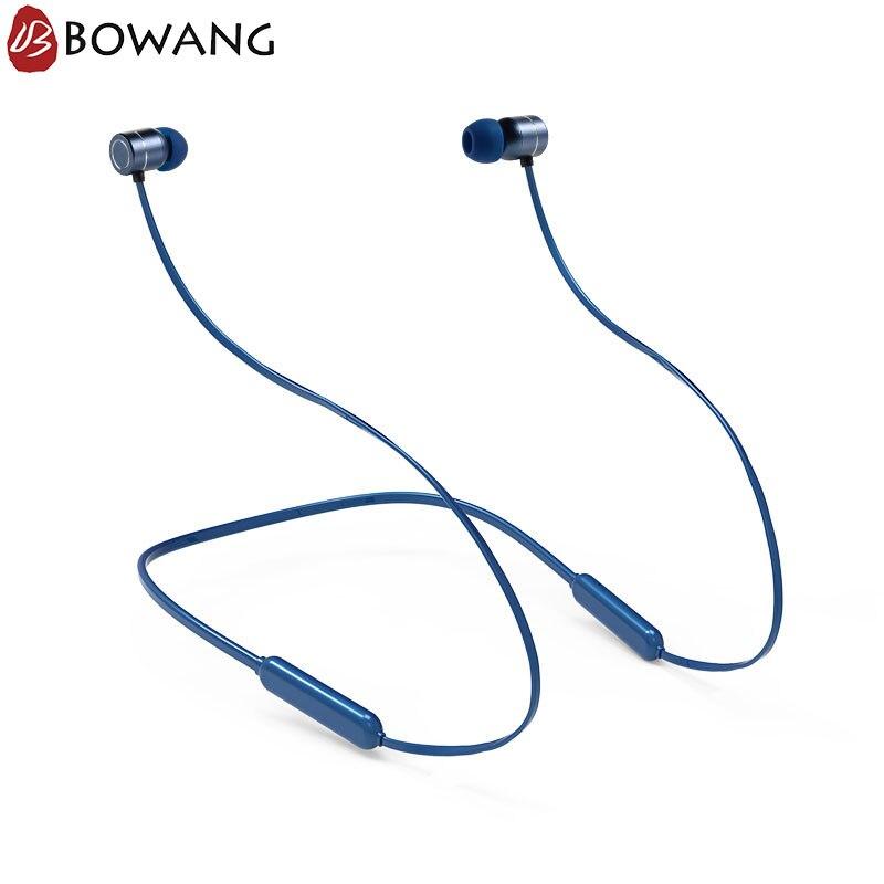 Sports Bluetooth écouteurs sans fil casque BOWANG IPX5 étanche Bluetooth tour de cou avec micro pour Xiaomi iPhone E07