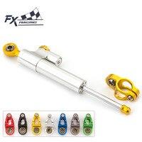 FX CNC Universal Aluminum Motorcycle Damper Steering Stabilize Linear Reversed Safety For HONDA CB1300 CB1000R CBR600RR