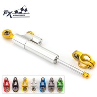 FX CNC Universal Aluminum Motorcycle Damper Steering Stabilize Linear Reversed Safety For HONDA CB1300 CB1000R CBR600RR