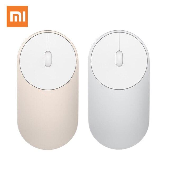 Original Xiaomi ratón inalámbrico portátil Mi Bluetooth óptico 4.0 RF 2.4GHz modo dual conectar Mi ratón 2016 Nuevo