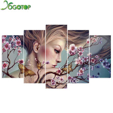 YOGOTOP DIY Diamond Painting Cross Stitch Kits Full Diamond Embroidery 5D Diamond Mosaic Needlework butterfly beauty 5pcs ML169 yogotop diy diamond painting cross stitch kits full diamond embroidery 5d diamond mosaic needlework muslim 5pcs ml167