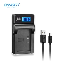 SANGER LCD USB Camera Battery Charger for LP-E8 LP E8 LPE8 fit Canon EOS 550D 600D 650D 700D Rebel X4 X5 X6i X7 2 pieces li ion battery charger lp e8 lp e8 rechargeable camera battery for canon 550d 600d 650d 700d ld456