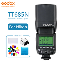 Godox TT685 TT685N Speedlite Flash Wireless TTL 2.4G Wireless HSS 1/8000s for Nikon D800 d700 D7100 D7000 Camera photography godox tt685n 2 4g hss 1 8000s i ttl gn60 wireless speedlite flash for nikon d800 d700 d7100 d5200 d5100 d70 xpro n transmitter