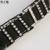 Europeu feminino moda cinto elegante branca incrustada de diamantes cruz com preto elástico melhor correspondência atuar o papel de cowboy Y251