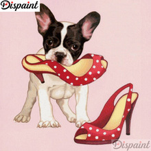 Dispaint Full Square/Round Drill 5D DIY Diamond Painting Dog shoes scenery 3D Embroidery Cross Stitch 5D Home Decor A12299 dispaint full square round drill 5d diy diamond painting dog cup scenery 3d embroidery cross stitch 5d home decor a12299