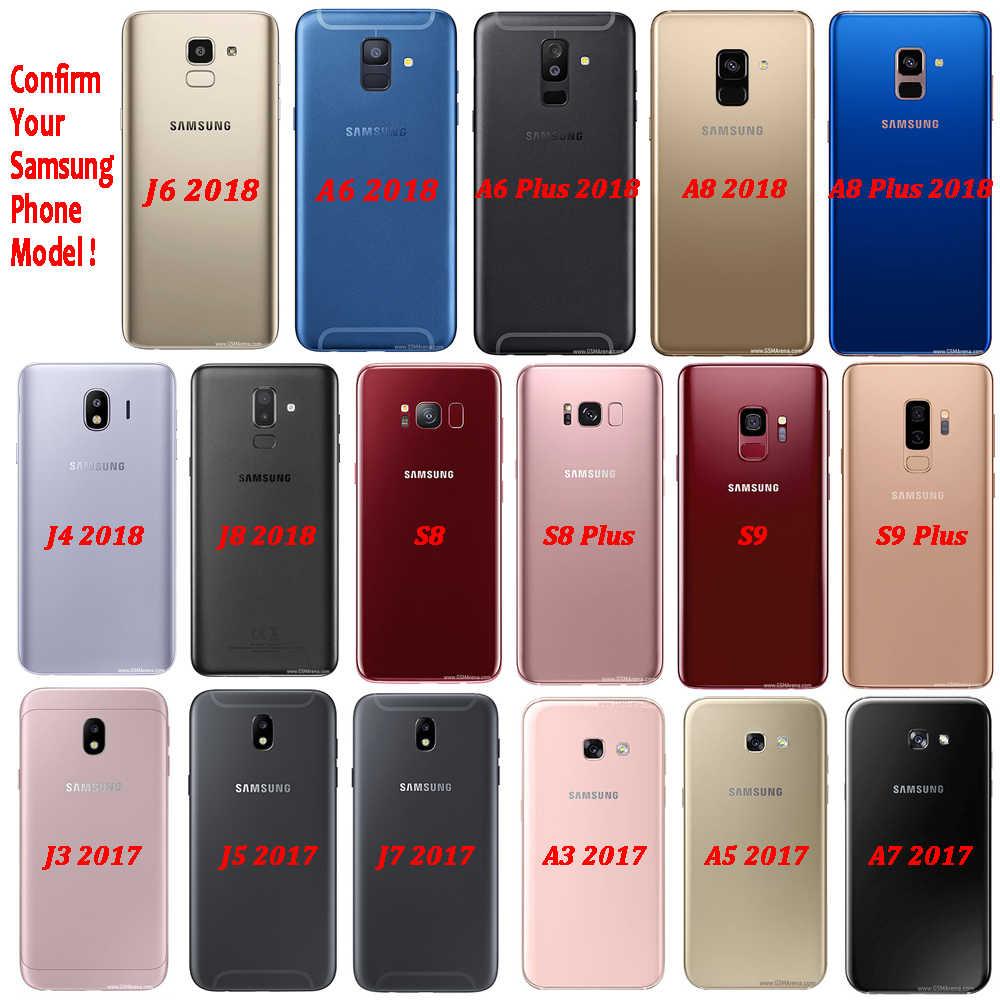 Funda de TPU de silicona con efecto dorado negro brillante azul agua de lujo para Samsung Galaxy J6 S8 S9 A6 A8 Plus j4 J8 2018 suave caso