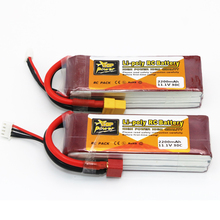 1pcs ZOP Power 11 1V 2200mAh 30C Lipo Battery T Plug XT60 Plug For RC Quadcopter