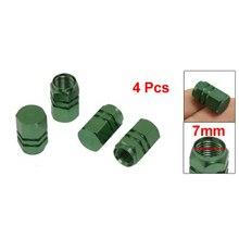 Автомобильные шестигранные колпачки для шин, колпачки для шин, зеленые 4 шт