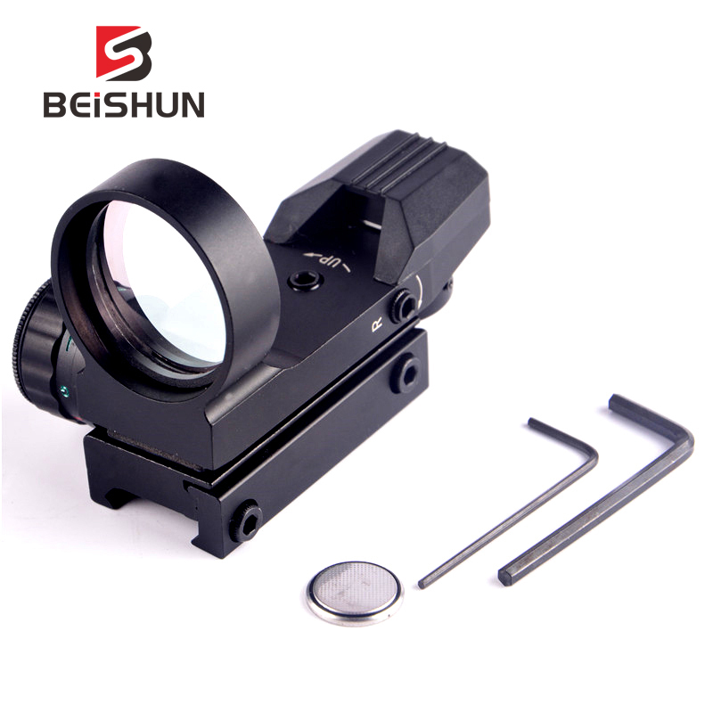 Hunting 1X22X33 Holographic Reflex Multi 4 Reticle Red & Green Dot Tactical Optics Scope Sight Riflescope 20mm Rail Collimator
