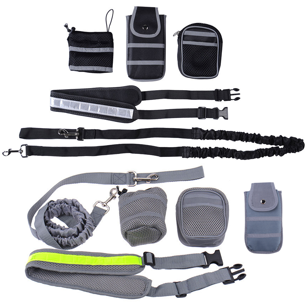 Dog Collar Traction Leash Pet Dog Running Walking Jogging Leash Waist Belt For Dog s Supplies