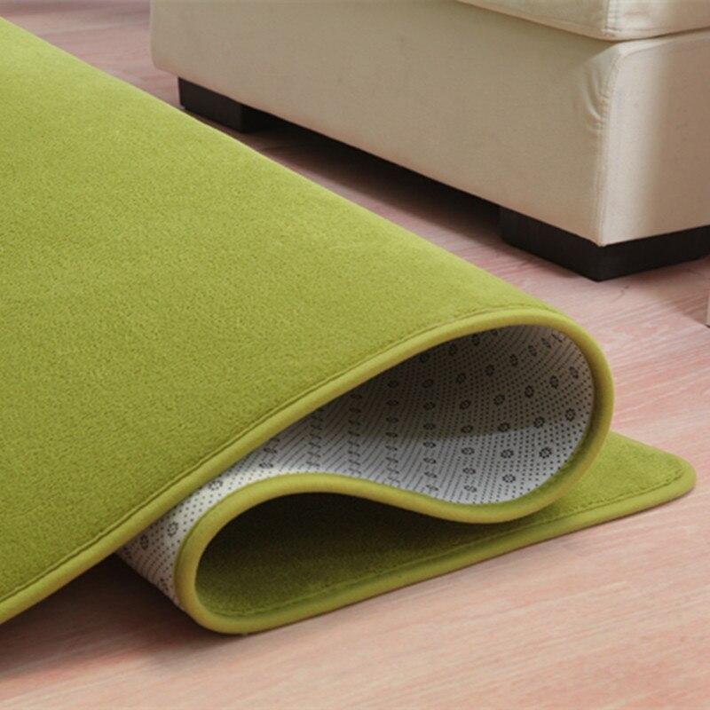 LIU 14 couleurs corail velours grand tapis chambre boutique salon table de chevet moderne rectangulaire maison tapis doux canapé tatami tapis - 4
