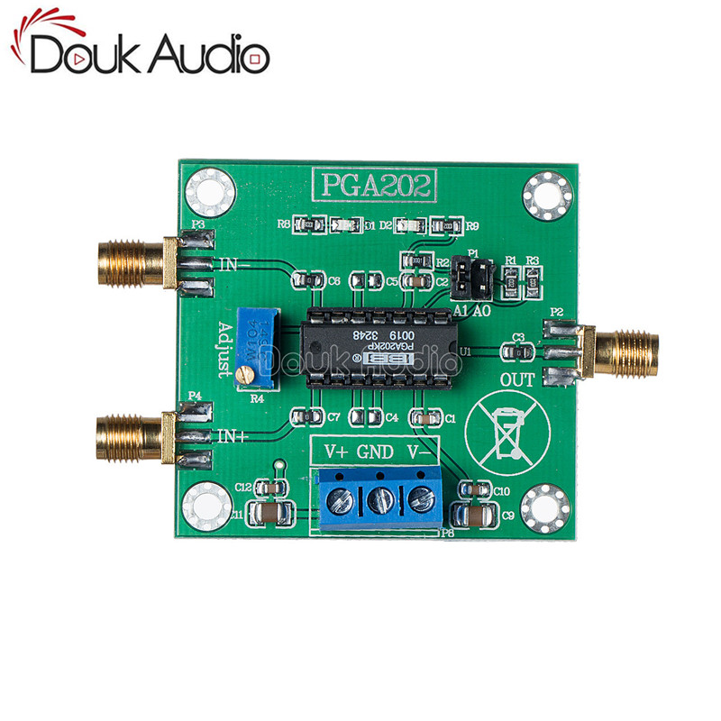 PGA202 Digital Instrumentation Amplifier Modul Programmable Gain Data Collection