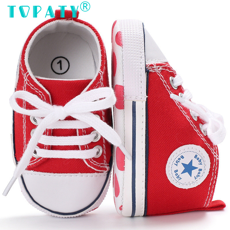 New Star Lace-up Canvas Shoes Brand New Baby Boys Girls Soft Soled Toddler Shoes Kids Sneakers Infant First Walkers Bebe Sapatos free shipping baby soft soled shoes girls moccasins cartoon prewalker sapato infantil girls sapatos de bebe para menina