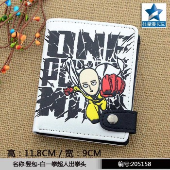 Anime One Punch Man Leather Wallet Short Pocket Card Holder Purse New Design Gift Money Bag for Men Women