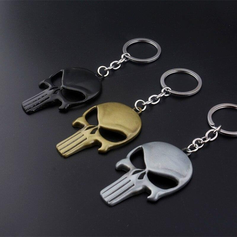 SG Каратель цепочка для ключей с черепом Каратель брелок
