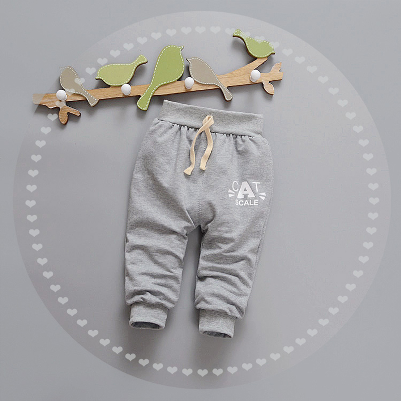 Letter Baby Pants Cotton Boys Girls Trousers Spring Autumn Boys Pants Elastic Waist Girls Trousers 2017 Baby Clothing 9-24Months (3)