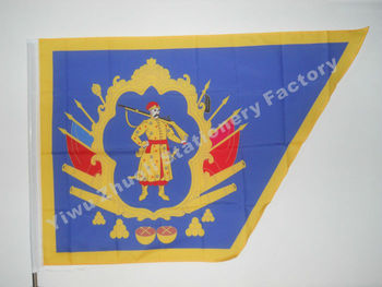 Ukraine Cossack Hetmanat Flag 150X90cm (3x5FT) 120g 100D Polyester Double Stitched High Quality Free Shipping image