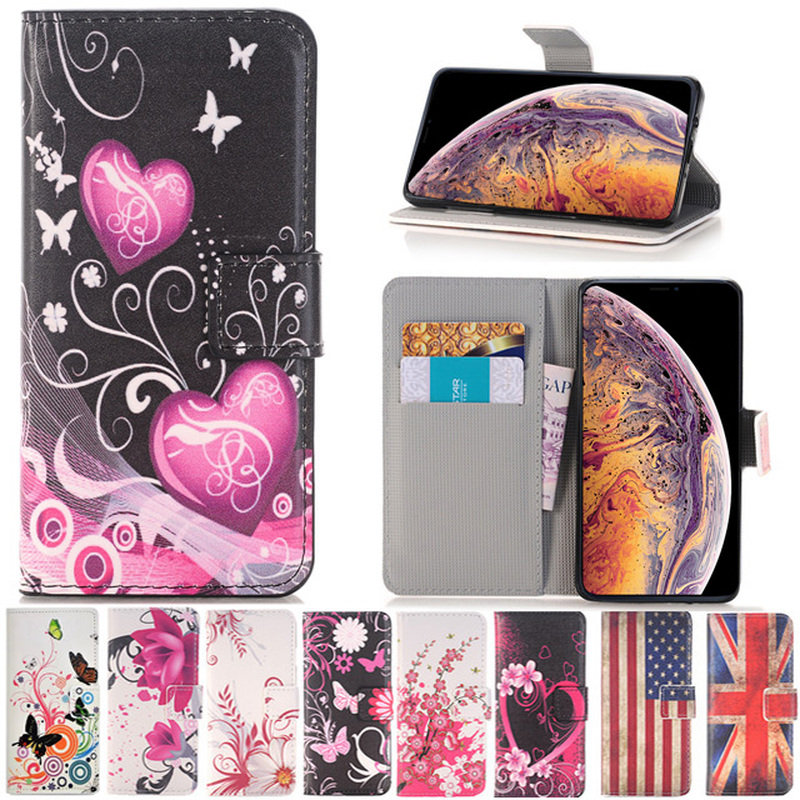 Luxury Love Heart Leather Flip Wallet Soft TPU Cover For <font><b>LG</b></font> G2 Mini G3 G4 G5 Stylus D680 D690 V10 V20 <font><b>V30</b></font> Leon K5 K7 K8 K10 <font><b>Case</b></font> image