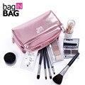 Vivid de gran capacidad mujeres bolso cosmético compone el organizador del bolso del maquillaje de las mujeres embrague bolsa de viaje bolsas de almacenamiento trousse de maquillage
