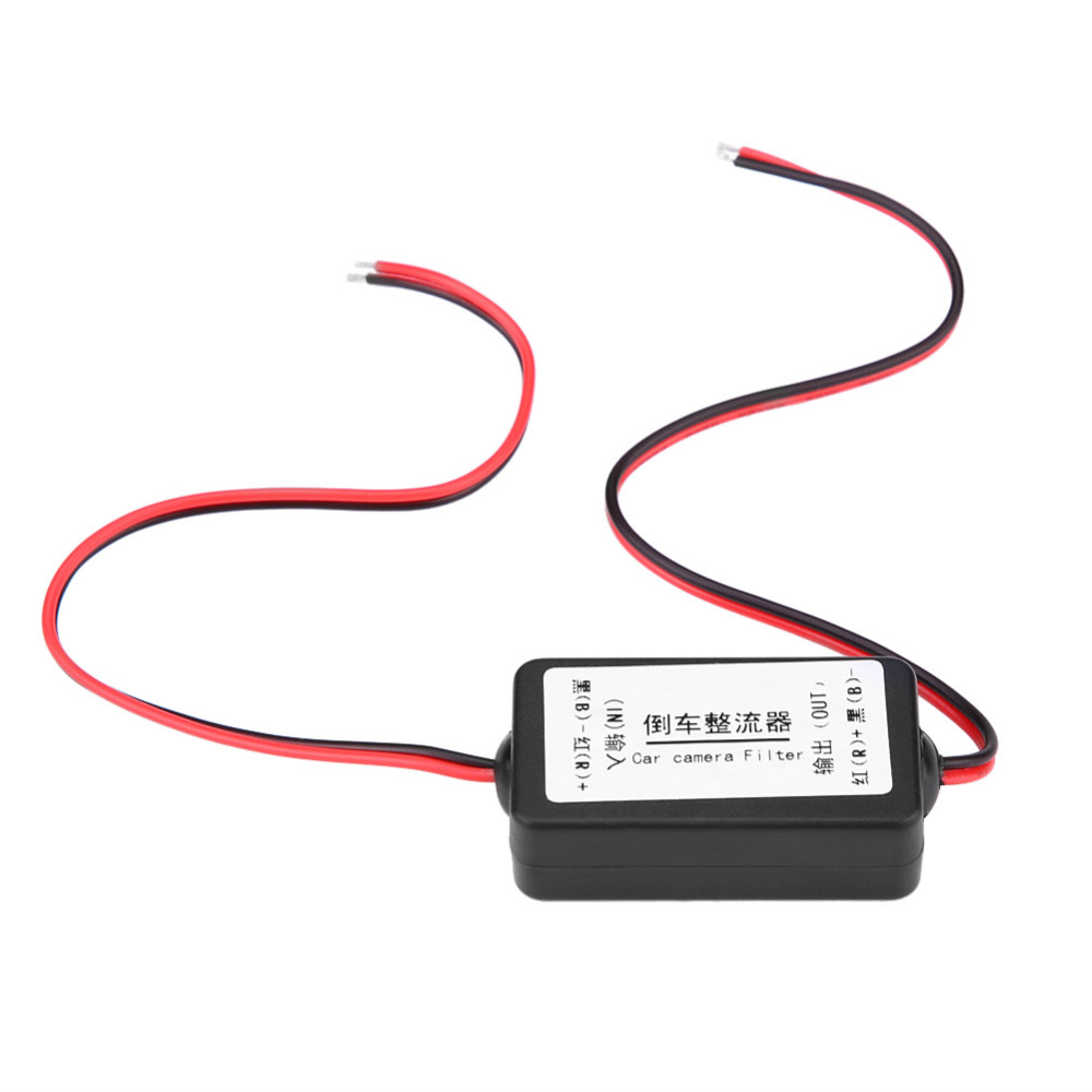 12V DC Car Rearview Camera Power Relay Capacitor Filter Rectifier high characteristic and stable performance Made of Plastic12V DC Car Rearview Camera Power Relay Capacitor Filter Rectifier high characteristic and stable performance Made of Plastic