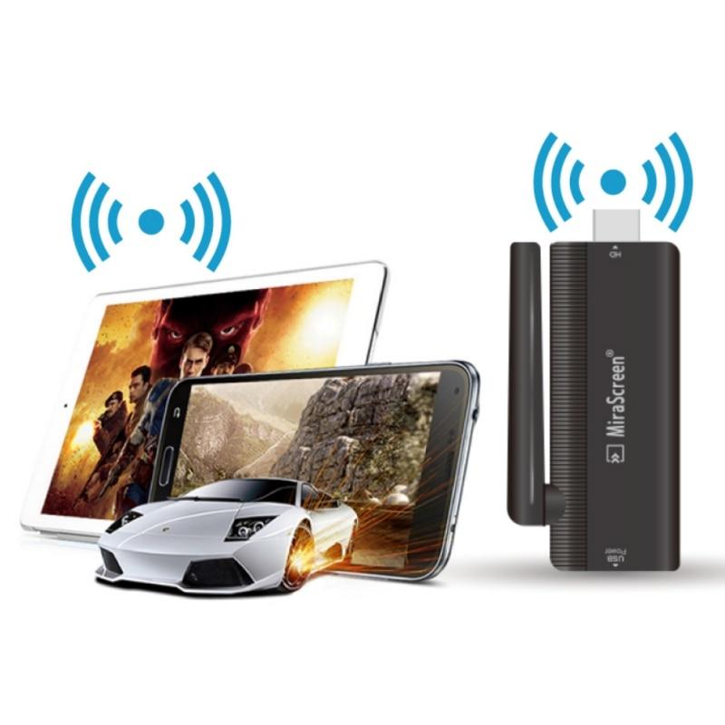 Schwarz B4 WiFi Display Empfänger 1080 p HDMI Mirascreen TV stick Audio Video DLNA Airplay Miracast Display Dongle für Extra antenne