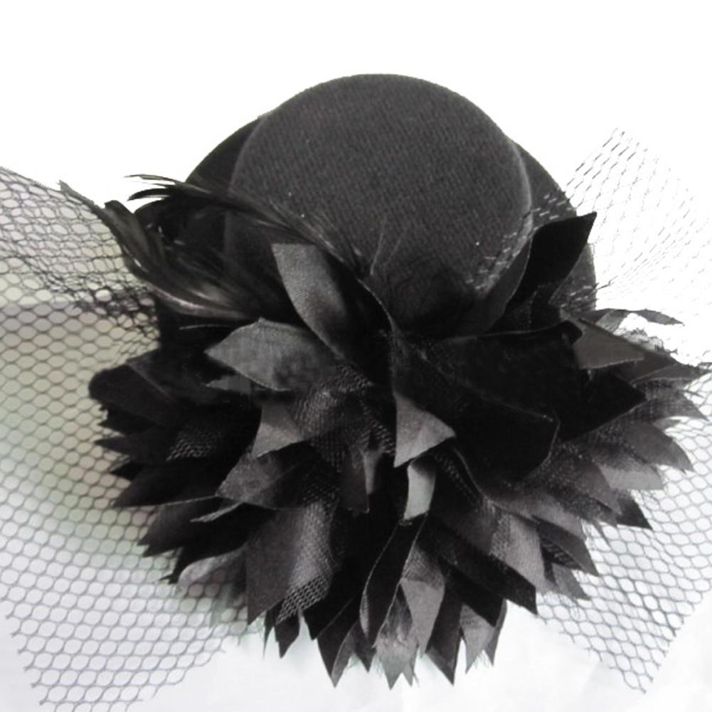1 Pc Neue Mode Frauen Dame Mini Top Hut Hairclip Mit Blume Für Party/jäten/cosplay Haar Zubehör