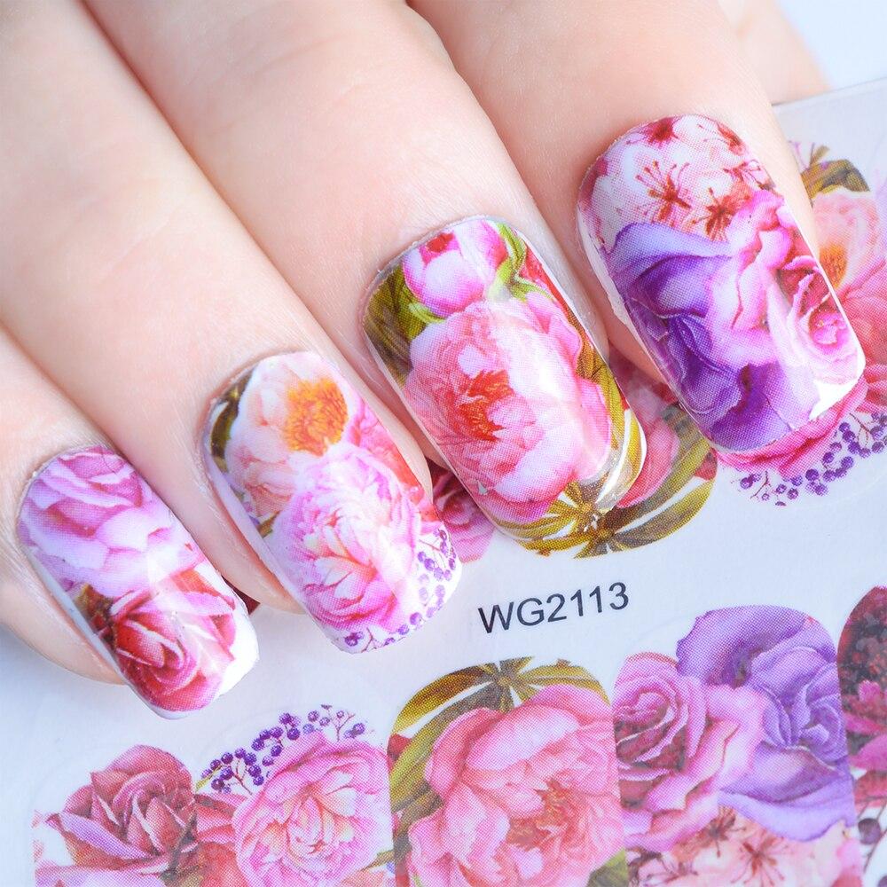 Nails Art & Werkzeuge 1 Pcs Blume Für Nagel Wasser Aufkleber Tattoo Nail Art Dekoration Aufkleber Adhesive Maniküre Slider Nagel Wrap Werkzeuge Jiwg2111-2135 Duftendes Aroma