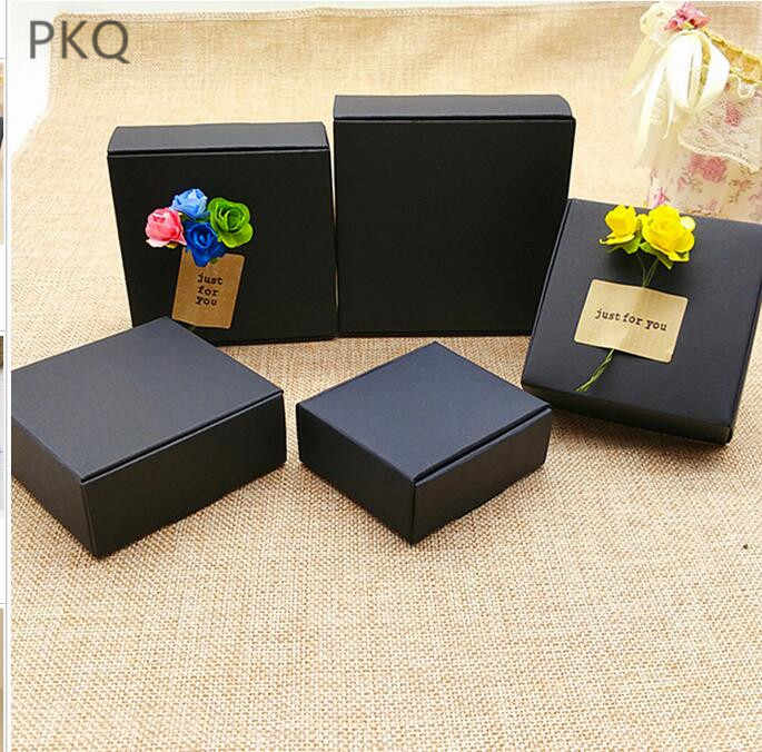 30pcs Black Cardboard Paper Box Craft Small Gifts Packaging Handmade Soap Box Kraft Paper Boxes Carton for DIY Party Supplies