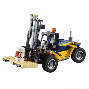 New 2 in 1 Technic Series Forklift Truck Compatible Technic 42079 Car Building Blocks Bricks Toys Christmas Gifts 20082 lepin 1877pcs 20013 technic series electric crane truck model building blocks educational bricks compatible toys christmas gift