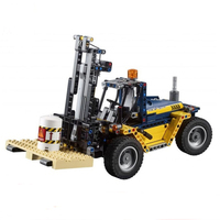 New 2 in 1 Technic Series Forklift Truck Compatible Legoingly Technic 42079 Car Building Blocks Bricks Toys Christmas Gift 20082