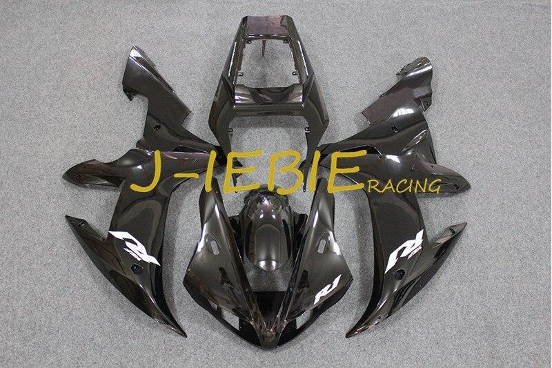 Black Injection Fairing Body Work Frame Kit for Yamaha YZF 1000 R1 2002 2003