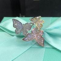 Band Classic Women Wedding Jewelry High Quality 925 Sterling Silver Three Colors Butterfly Engagement Anniversary Women Rings