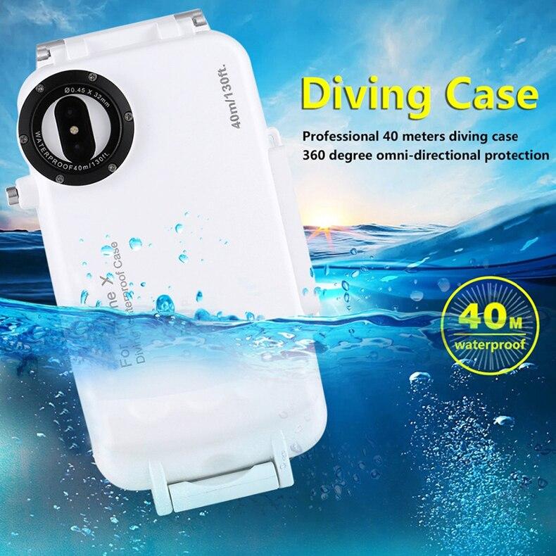 premium selection 66a03 92b69 Scuba Diving iPhone X Waterproof case Professional 40M/130ft ...