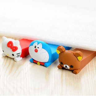 High Quality Door Stopper Silica Gel Baby Gate Safety Cartoon Stopper Cute Children Safety Door Seguridad Door Wedge Rubber Sale