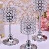 Peandim Luxury Crystal Silver Centerpieces Decoration Candle Holder Party Bar Home Romantic Candelabra Centerpiece 2