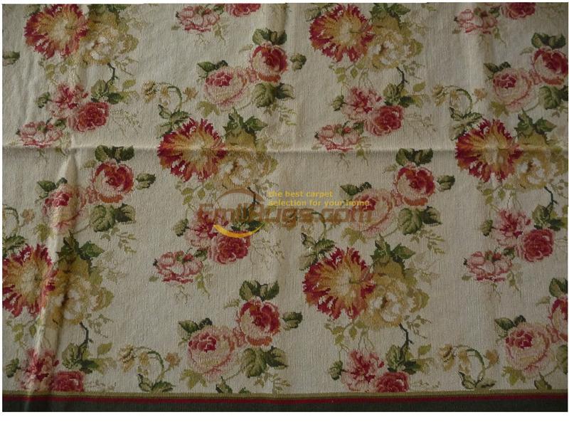 Tapis en laine tissé à la main avec motif à l'aiguille fait à la main nouvelle liste tapis à tricoter en laine Antique
