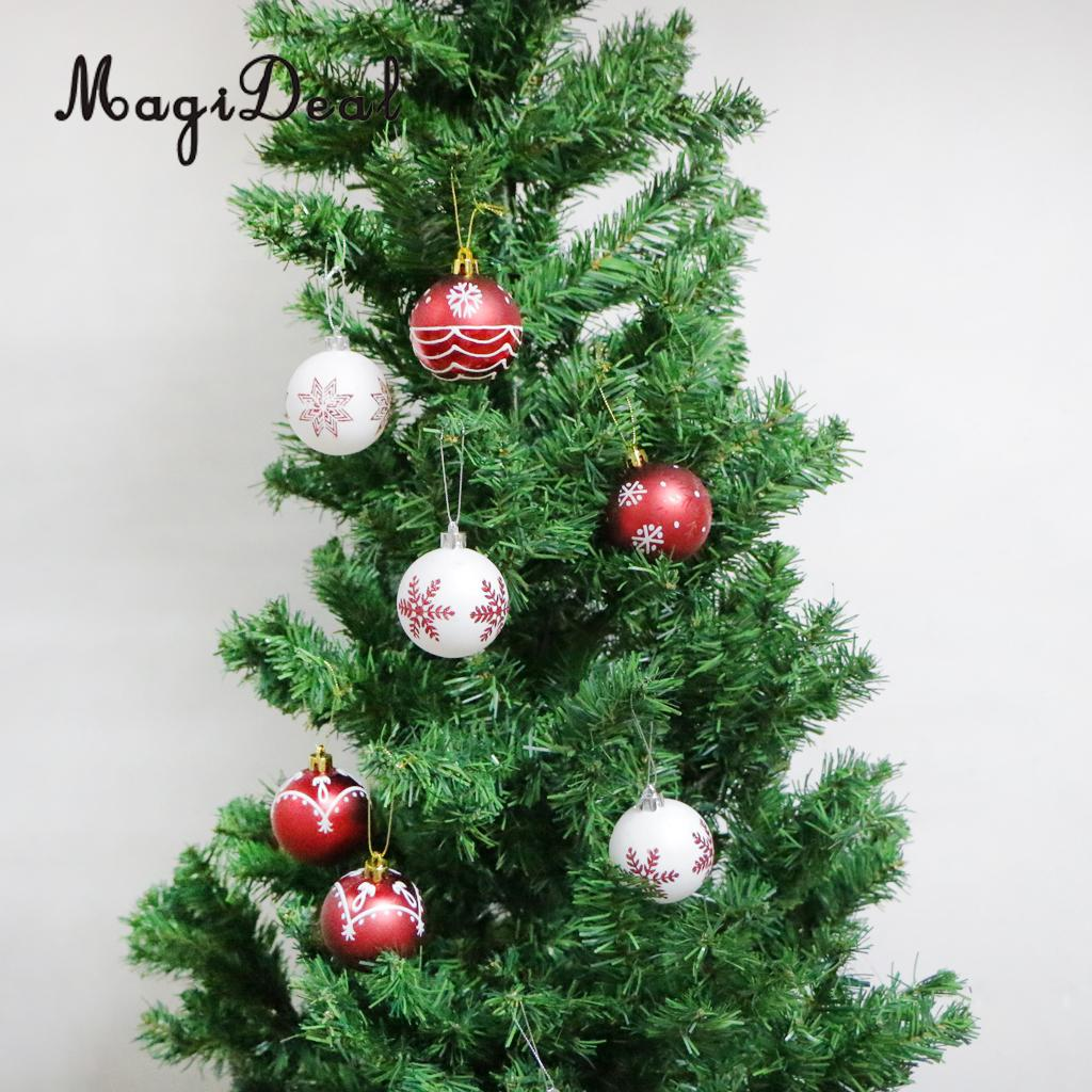 MagiDeal 24pcs 6cm Colorful Christmas Tree Ball Bauble Xmas Hanging Craft Home Decor