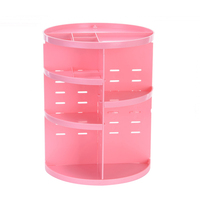 New Arrived 360 Degree Rotating Makeup Storage Rack Storage Box Multi Layers Makeup Cosmetic Brush Holder Jewelry Organizer Case