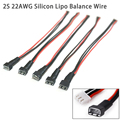 5pcs/lot JST-XH 200mm 20cm 2S 22AWG Silicon Wire Lipo Balance Wire Extension Charged Cable Lead Cord for RC Battery charger