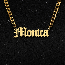Gold Chain Name Necklaces Custom Gargantilha Bijoux Femme Old English Name Necklaces For Women Hip Hop Necklaces Custom Jewelry