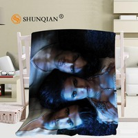 Custom The Vampire Diaries Blanket Manta Falafel Blanket Sofa/Bed/Plane Travel Bedding56x80inch 50X60inch 40X50inch