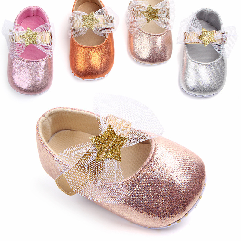 2018 New lovely KIDS bed shoes 1pair Sequin Baby First Walkers Girl Shoes+AGE3-12 M,antiskid toddlers/Newborn Pre-walker ...