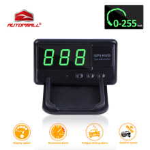 Universal Car HUD GPS Speedometer Head Up Display C60 Overspeed Alarm 1.3inch Windshield Digital Speed Projector For All Vehicle