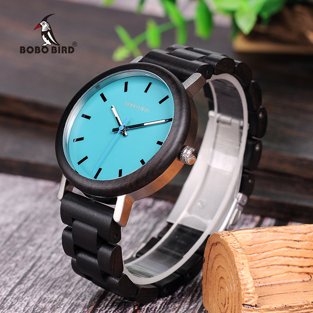 BOBO BIRD Wooden Handmade Men Quartz Watch with Gift Box