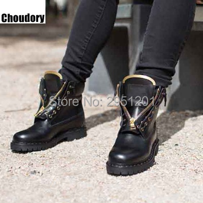 Newest designer brand men zipper riding boots high quality leather ankle boots 2017 thick heels high top men causal shoes